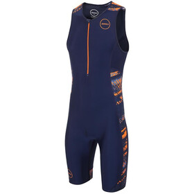 Zone3 Activate Plus Combinaison de triathlon Homme, track speed-navy/orange/blue